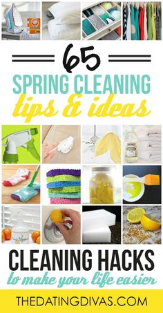 Spring Cleaning Hacks: Easy Cleaning Ideas - The Dating Divas - All these spring cleaning tips and ideas make me WANT to go clean and get organized. Deep Cleaning Tips, Cleaning Checklist, Cleaning Recipes, House Cleaning Tips, Diy Cleaning Products, Cleaning Solutions, Cleaning Hacks, Spring Cleaning Tips, Cleaning Schedules