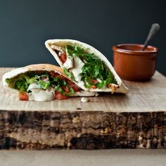 Spicy Pita Pockets with Chicken, Lentils, and Tahini Sauce // Bulgur Recipes: http://www.foodandwine.com/slideshows/bulgur-recipes/1 #foodandwine