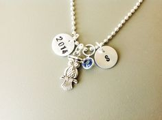 Personalized Graduation necklace college school by Stamptations#graduationgift#collegegift#highschoolgraduations