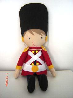 Boneco soldadinho de chumbo com 50 cm de altura confeccionado em tecido de algodão e feltro. <br> <br>Lindo para decoração de festas e quartinho de bebê/menino.