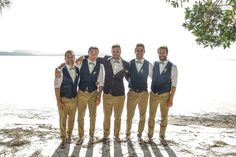 Groom and groomsmen! beach wedding ideas - marli and dane's rustic beachside wedding Khaki Wedding, Mens Beach Wedding Attire, Best Wedding Suits, Beach Wedding Groomsmen, Wedding Beach, Trendy Wedding, Gatsby Wedding, Beach Weddings, Wedding Outfits