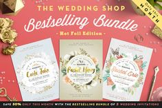 Bestselling Bundle -50% in March by The Wedding Shop on @creativemarket