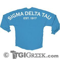 TGI Greek - Sigma Delta Tau - Spirit Jersey  #tgigreek #spiritjersey #sigmadeltatau   tgigreek@tgipromo.com