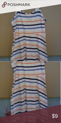 📍WOMENS SPAGHETTI STRAP DRESS📍 White/Orange/Navy Blue/Baby Blue Spaghetti Strap Summer Dress.. Can Be Worn With Sandles, Wedge Heels, Or Converse! It was Gently Worn, But Mo Sihms of Wear.. Very Well Cared For. This is A Very Cute, And Feminine Dress! Just Something Casual To wear On a Warm/Hot Day! 💚2+ items Bundled/Receive Discount 💜 I Accept REASONABLE OFFERS! :) 💖I Love To Trade (under certain conditions, due to me being scammed Twice Before, I Am Skeptical and Moreso, Not So…