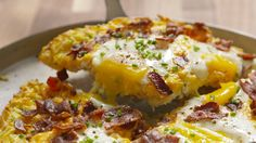 Cheesy Breakfast Pizza  - Delish.com