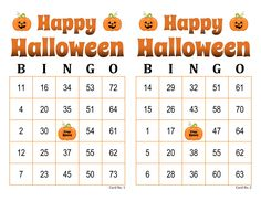 Halloween Bingo Cards, 1000 cards, 2 per page, immediate pdf download Bingo Card Maker, Halloween Bingo Cards, Custom Bingo Cards, Bingo Calls, Bingo Patterns, Email Programs, Harvest Party, Generators, I Am Game