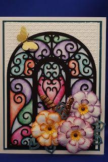 Ornamental Iron Cricut cartridge - really like this idea for a card