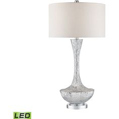 Dimond Lighting DMD-D2937-LED Cape Town Silver Plate Table Lamps Lighting  | eFaucets.com