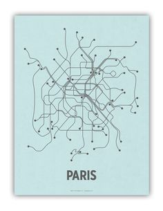 Paris Lineposter Screen Print #design #map
