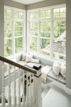 Beautiful Stairwell and reading nook - The House that A-M Built