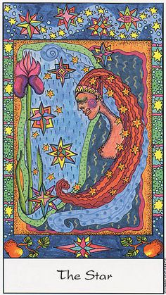 XVII. The Star - Tarot of the Trance by Eva Marie Nitsche .