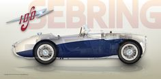 Of all the 100S cars built by Donald Healey, the blue and white versions were by far the most 'common' and, to my eye, perhaps the most attractive.