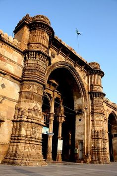 Viaggio in Gujarat : Ahmedabad Mosque Architecture, Indian Architecture, Taj Mahal, Beautiful Mosques, Ahmedabad, India Travel, Incredible India, Historical Sites, World Heritage Sites