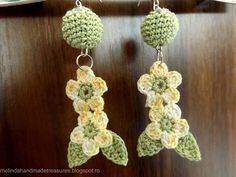 DIY PATTERN : Crochet Cute Flower Earrings ~ Melinda's Handmade Treasures