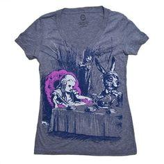 Alice in Wonderland Tea Party T-Shirt on www.amightygirl.com