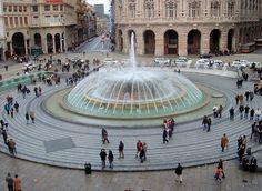 Piazza tricolore, Genoa, Italy