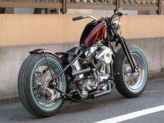 Bobber Inspiration | Harley Shovelhead | Bobbers and Custom Motorcycles | elegant-apparatus July 2014