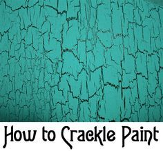 So many ideas for crackle painting.Here are instructions on How to Crackle Paint without using any expensive designer paint. accessories design How to Crackle Paint Paint Furniture, Furniture Projects, Furniture Makeover, Diy Projects, Furniture Stores, Crackle Furniture, Furniture Outlet, Distressed Furniture Painting, Furniture Design