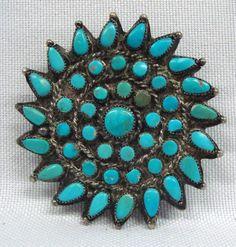 Zuni Turquoise Petit Point Pin