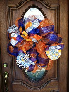 Auburn War Eagle All In Wreath by poshtherapie on Etsy, $65.00