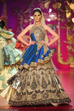 Olga T walks the ramp for designer Ritu Beri on Day 4 of Delhi Couture Week, held in New Delhi, on August 03, 2013.