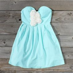 Moonshower Dress, Sweet Women's Country Clothing Minus the white frilly thing Light Blue Dresses, Blue And White Dress, Aqua Dresses, Striped Dress, Cute Dresses, Cute Outfits, Summer Dresses, Summer Outfits, Summer Clothes
