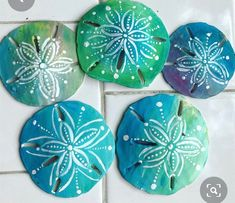 Sea Crafts, Sea Glass Crafts, Sea Glass Art, Rock Crafts, Seashell Painting, Seashell Art, Seashell Crafts, Seashell Ornaments, Sand Dollar Art