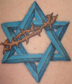 Star of David and Crown of Thorns: Google Image Result for http://www.religioustattoos.net/Images/Star_of_David/star_of_david_7.jpg