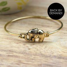 Tribal Print Elephant Bracelet