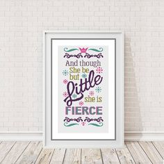 Modern Cross Stitch Chart  And though she be by PeppermintPurple