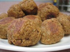 Gluten Free, Vegan Meat(less) Balls. This actually looks like one my husband would eat and like! Could work in a patty form too.