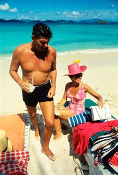 Ronald and Nancy Reagan in St. Thomas in 1967
