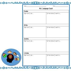 Setting language goals can help ELLs become aware of how they are progressing with learning English. Learn ideas about how to help ELLs with goal setting. English Language Learners Elementary, Spanish Language Learning, Learning English, Graphic Organizer For Reading, Graphic Organizers, Picture Writing Prompts, Sentence Writing, Learning Sight Words, Learning Quotes