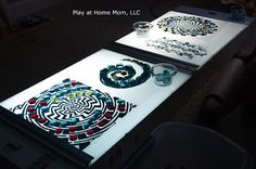 Exploring Spacial Patterns on the Light Panel | Activities For Children…
