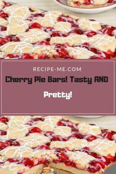 Cherry Pie Bars! Tasty AND Pretty!