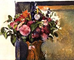 Flowers in a Vase // Paul Cezanne // circa 1879-1882