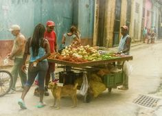 Havana Cuba Street Vendor Art Print by Joan Carroll.  All prints are professionally printed, packaged, and shipped within 3 - 4 business days. Choose from multiple sizes and hundreds of frame and mat options. See more from #HAVANA #CUBA at joan-carroll.pixels.com
