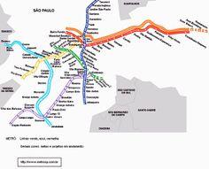 Mapa do Metrô de São Paulo. Foto oficial.