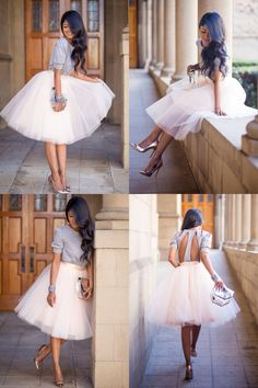 Jupon en tulle : {Whimsical by Walk in Wonderland} We are so madly in ♡ with this tulle tutu sk… - Fashion - hochzeitsgastoutfit Mode Outfits, Skirt Outfits, Dress Skirt, Fashion Outfits, Womens Fashion, Vetement Fashion, Dress Me Up, Ideias Fashion, Wedding Dresses