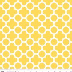 quatrefoil yellow