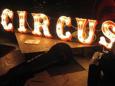 Circus light up sign