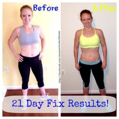 Before and After - Real 21 day fix results! Clean eating combined with 30 minute workouts a day got me in the best shape!