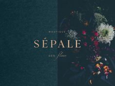 Sépale Brand Design designed by Galerie Design Studio. Connect with them on Dribbble; Logo Branding, Business Branding, Luxury Graphic Design, Packaging Design, Branding Design, Luxury Branding, Web Design, Flower Boutique, Marca Personal