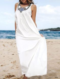 GET $50 NOW | Join Zaful: Get YOUR $50 NOW!http://m.zaful.com/scoop-neck-a-line-white-maxi-dress-p_70894.html?seid=1858373zf70894