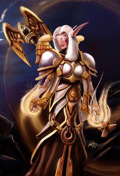 World of Warcraft - Elfa de la noche - Sacerdote