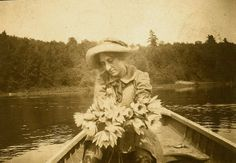 Unusual Double Image Couple with Rowboat RPPC by obscurio on #Etsy,12.00
