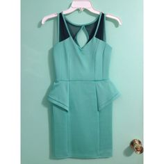 CHARLOTTE RUSSE PARTY DRESS TEAL COLORED PARTY DRESS BOUGHT FROM CHARLOTTE RUSSE; LIGHTLY USED; GREAT CONDITION Charlotte Russe Dresses