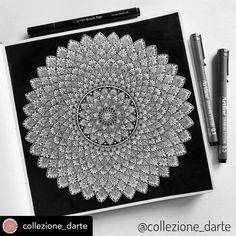 Mandala Canvas, Mandala Artwork, Mandala Drawing, Flower Pattern Drawing, Pattern Art, Doodle Art Designs, Henna Designs, Art Drawings Sketches Simple, Drawing Ideas