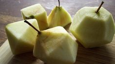 How to carve your apples into platonic solids