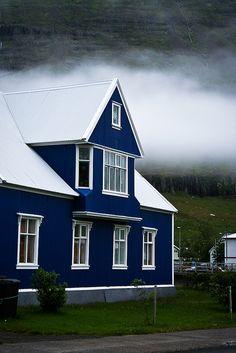 Iceland - Blue House Seyðisfjörður
